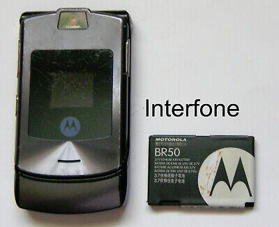 Motorola V3i Mobile Phone-T Mobile/EE/Virgin-Good Cond-Optional Charger Bundle