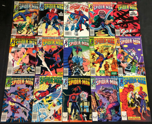 PETER PARKER, THE SPECTACULAR SPIDER-MAN COMIC LOT 38PC (VF-NM)