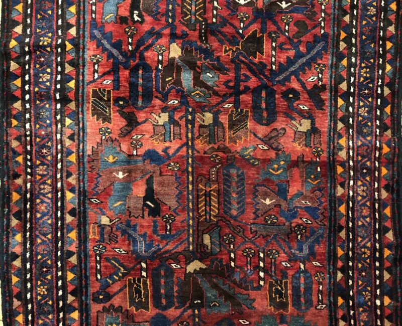 Beautiful Bakhtiari - 1940s Antique Persian Rug - Tribal Gallery - 5 X 9.10 Ft.