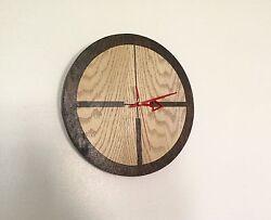 Silent Wall Clock SIGHT Shooting Range Game Rustic Wood Hand Made Christmas gift