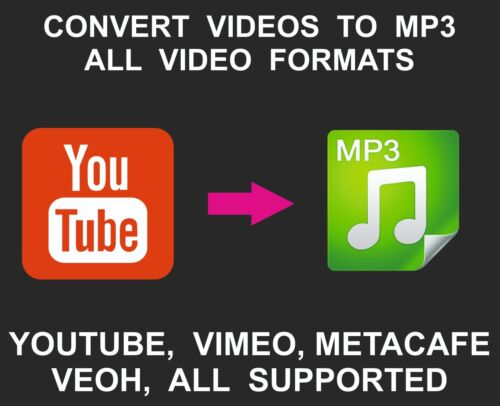 Convert Video To MP3 Service, All Video Formats, High Quality, Youtube, Vimeo