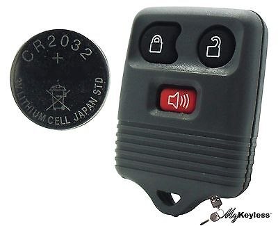 New Gray Ford Mercury Replacement Keyless Entry Remote Key Fob + CR2032 Battery