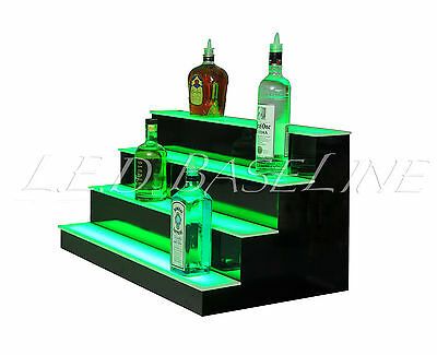 36 Led Lighted Bar Shelves 4 Step Led Liquor Bottle Displ Display Shelving