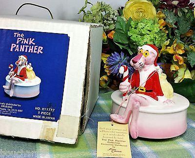 Pink Panther Musical Music box Pink Panther Santa Christmas Musical - Pink Music Box