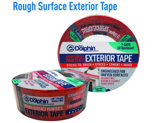 """Blue Dolphin TP EXT R 0200 1.88"""" x 54.6Yd Rough Exterior Tape (18 PACK)"""