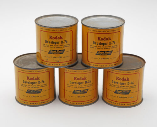 Vintage Kodak D-76 Developer / New Old Stock / Lot of 5