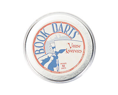 Verse Keepers 50 Count Bronze Book Darts Tin Bible Verse Book