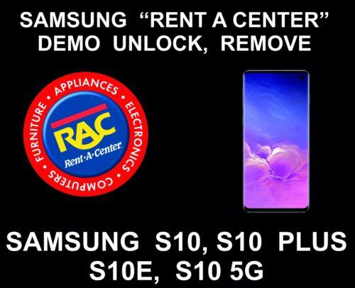 Samsung Rent a Center, Demo Remote Unlock, Samsung S10, S10 Plus, S10E, S10 5G