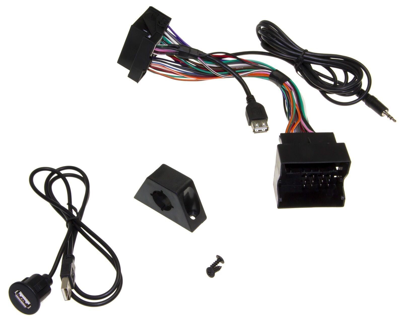 usb aux in adapter 3 5mm klinke mmt radio einbau buchse. Black Bedroom Furniture Sets. Home Design Ideas