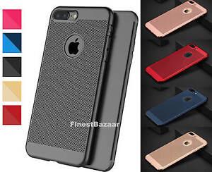 Luxury-Ultra-Thin-Slim-PC-Mesh-Hard-Back-Case-Cover-Apple-iPhone-10-X-8-7-6s-5s