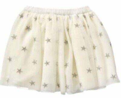 Gymboree Starry Night White Silver Star Tulle Tutu Skirt 18 24 2T 3T Nwt Retail