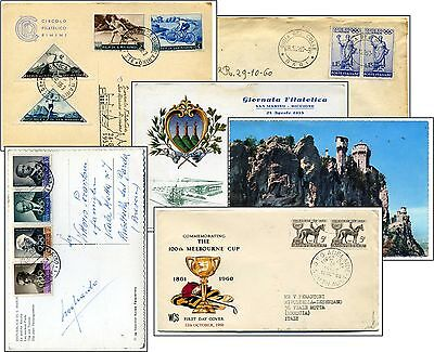 4 items about Olympic Philately 1950's and 1960's and other Sports promotions