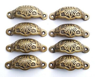 "Trunk Handles 4/"" w #Z24 Tool Chest 2 Antique Solid Brass Dresser"