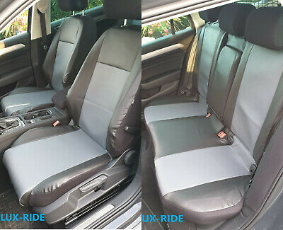 VW PASSAT B8 SALOON 2014 ONWARDS ECO LEATHER /& ALICANTE TAILORED SEAT COVERS