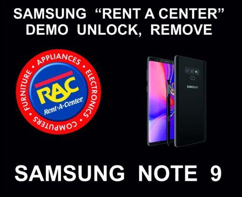 Samsung Rent a Center, Demo Remote Removal, Unlock Service for Note 9