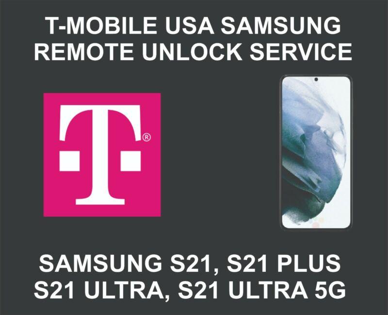 T-Mobile USA Samsung Unlock Service, Samsung S21, S21 Plus, S21 Ultra, 5G
