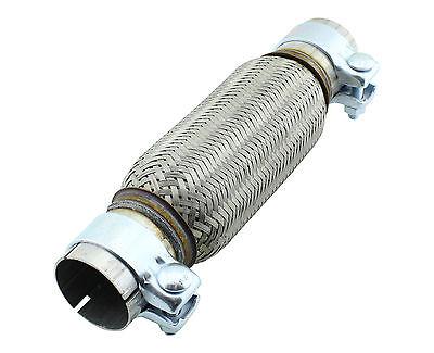 55x200mm Flexrohr Hosenrohr Auspuff Flexstück Abgasrohr ohne schweißen Schellen