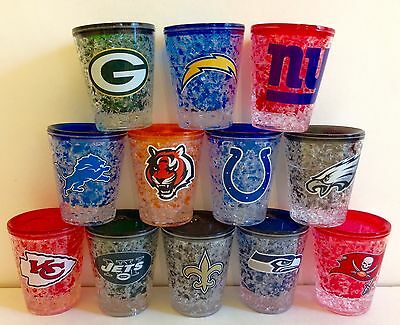 NFL Freezer 2 oz Shot Glass With Team Color Logo NEW!! ()
