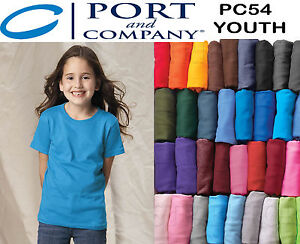 125 Blank Port Company Pc54 Youth Plain Any Color Kids T