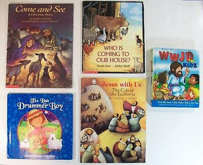 Christmas Eucharist Jesus Christ Bible Stories -  5 Children's Picture Book Lot