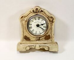 Clock Battery run one AA distressed vintage look (not old) neutral beige color