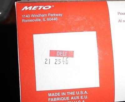 Original Meto 2600 Deli Labels 5.26 8.26 Or 10.26 Pricing Gun - 12 Rolls Wink