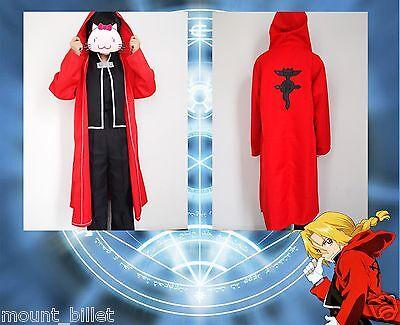 Halloween Anime FullMetal Alchemist Edward Elric Cosplay Costume SIZE XL](Fullmetal Alchemist Halloween Costumes)