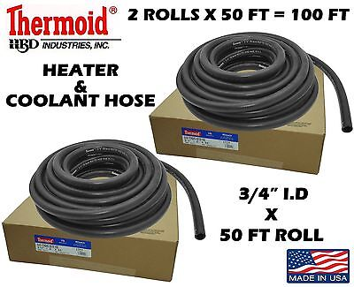2 ROLLS THERMOID 34 X 50  100 TOTAL COOLANT HEATER HOSE ALL MAKES  MODELS
