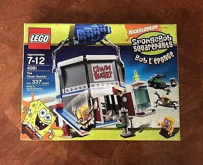 LEGO Spongebob Squarepants 4981 The Chum Bucket, Complete w Manual and BoxUsed