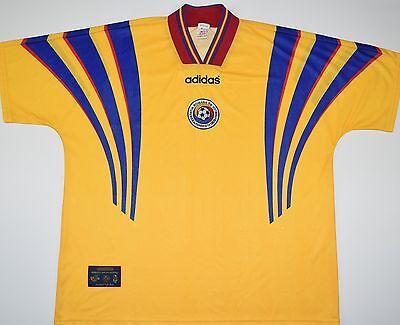 1996-1998 ROMANIA ADIDAS HOME FOOTBALL SHIRT (SIZE XXL) image