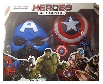 Captain America Handschuhe (AVENGERS Captain America Maske leuchten Handschuh - schießt Scheiben Figuren )