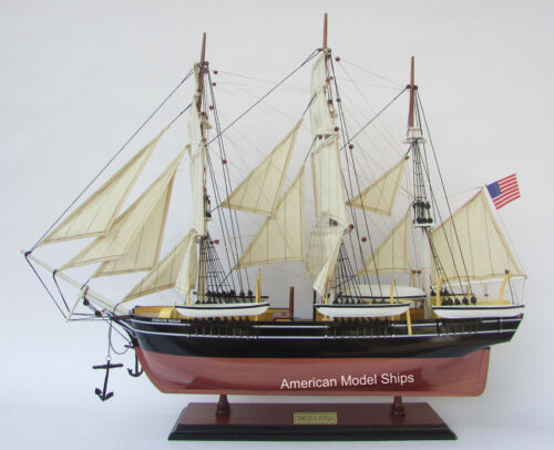 Charles W. Morgan Whale Ship Model - HandCrafted Wood Fully Assembled