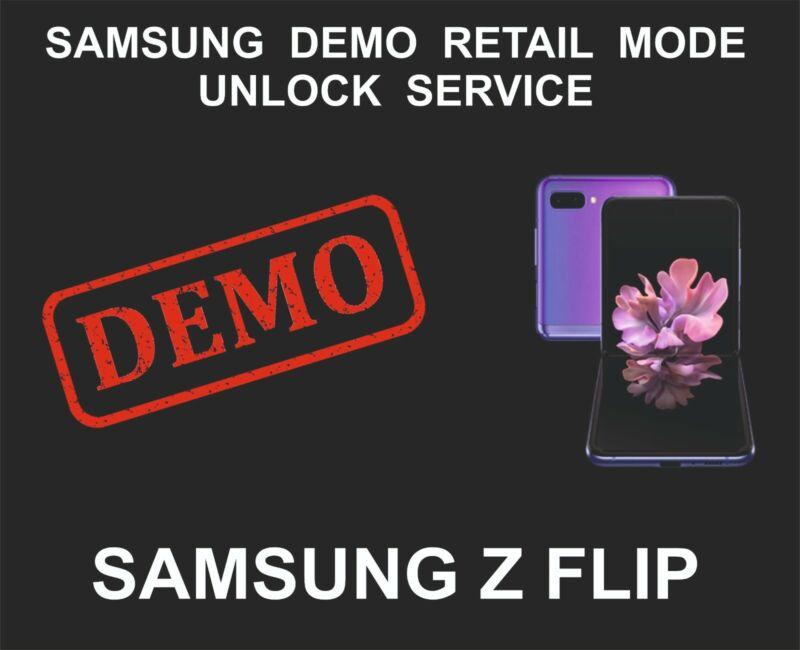 Samsung Demo Mode Unlock Remove Service, Samsung Z Flip