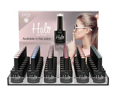 Pure Nails Halo Gel Polish Colours Full Range + Top & Base Coat - FAST DELIVERY