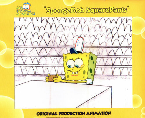 """THE VERY BEST""! Spongebob Production CEL #6630 ""NEPTUNE"