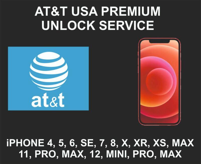 AT&T USA Premium Unlock Service, fits iPhone 8, X, XR, XS, 11, 12, Pro, Max