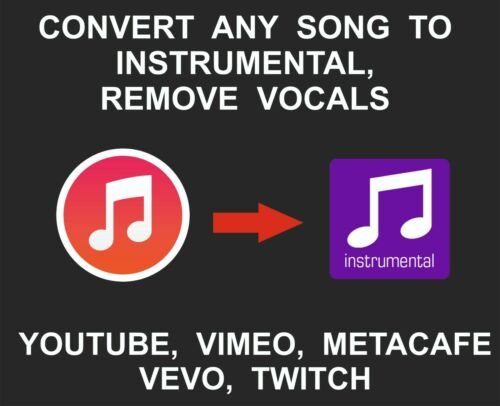 Convert Any Music, Video To Instrumental Song, Remove Vocals, Minus, Youtube, Vi