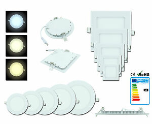 10x-LED-Panel-Foco-empotrado-empotrable-Reflector-Iluminacion-Lampara-de-techo