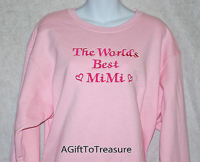 Mimi Sweatshirt, Custom Personalized, Embroidered Any Grandma Name, AGIFT 103
