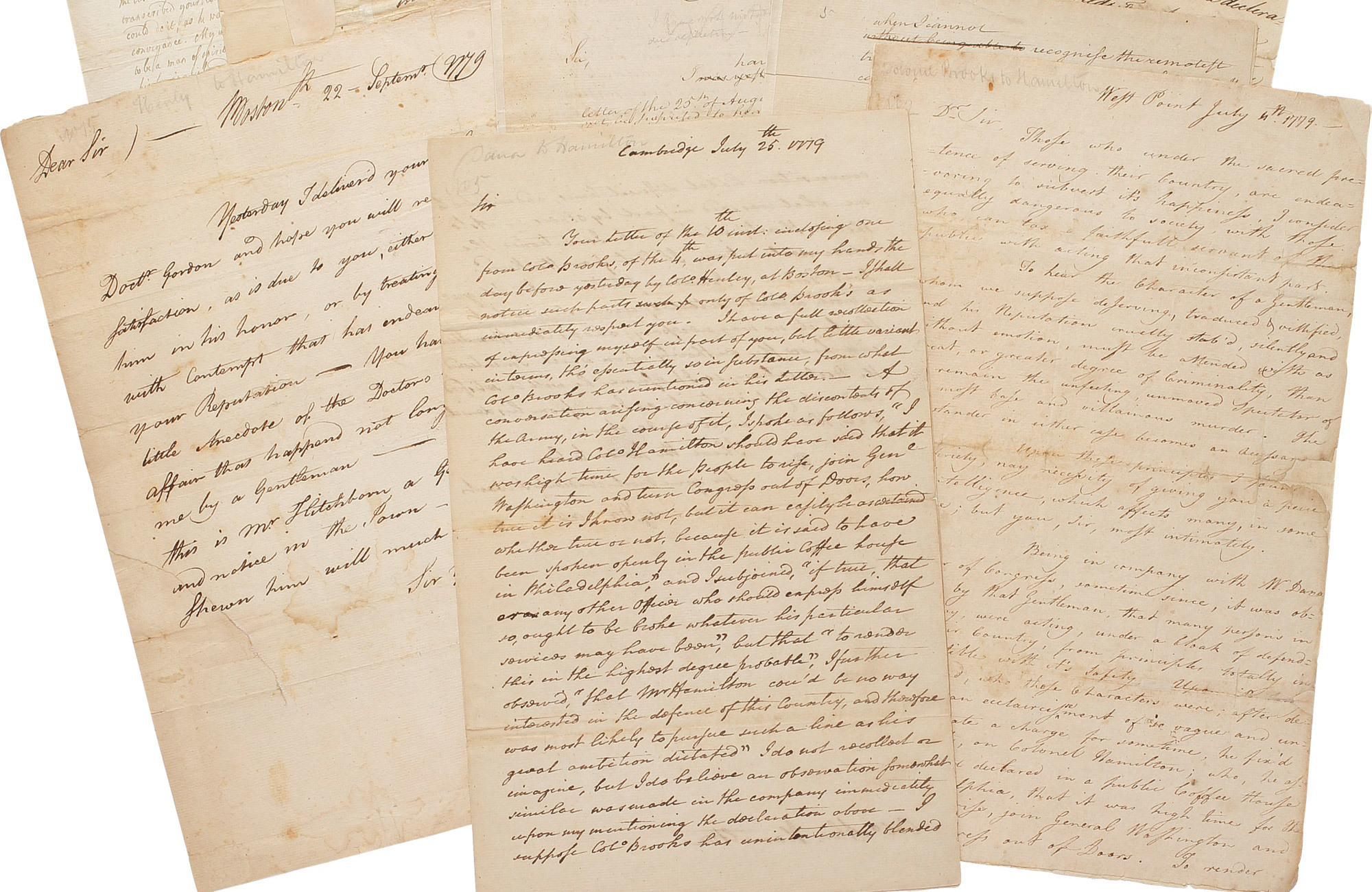 Alexander Hamilton An Important Family Archive of Letters and