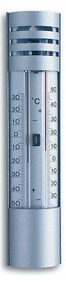 TFA 10.2007 analoges Gartenthermometer Min-Max-Thermometer Außenthermometer Alu