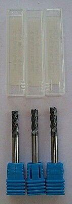 "new TITAN 3//16/"" 1/"" x 4/"" SE 4FL Ballnose Solid Carbide End Mill ALTiN Coating USA"