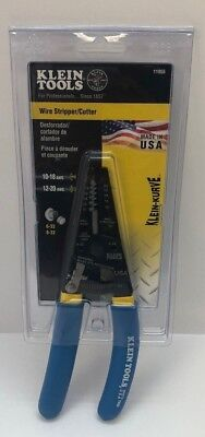 Klein Tools 11055 Kurve Wire Strippercutter Blue W Yellow Stripe 10-20ga.