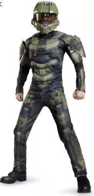 Halo Master Chief Boys Child Halloween Costume Jumpsuit - Master Chief Cosplay Kostüm