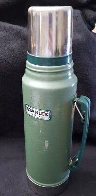 Aladdin STANLEY Thermos  Green 1 Quart /1 Liter Vacuum Bottle
