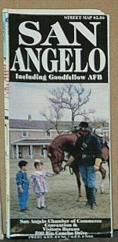 1997 Street Map of San Angelo, Texas