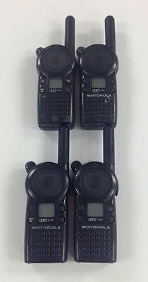 Motorola Cls1110 5-mile 1-channel Uhf Two Way Radio Good Condition Lot Of 4