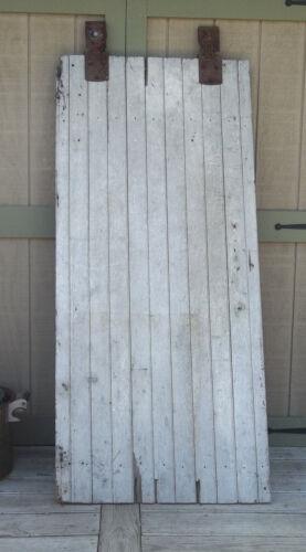 """BARN DOOR Farmhouse 77"""" AUTHENTIC Vintage OLD Door FARM DOOR Salvaged & Rollers"""