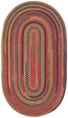 Capel Rugs High Rock Country Cottage Oval Wool Braided Rug Red Cardinal #550 (Capel Rugs Oval Rug)