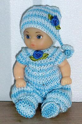 Nostalgie Set 3-tlg Overall  SK,SE ,ARI , Mini- Puppen 11 - 12 cm  Puppenstube